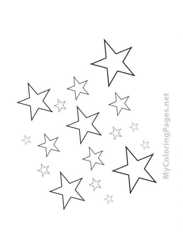 618x824 Moon Coloring Pages Printable Archives And Stars 94 Various