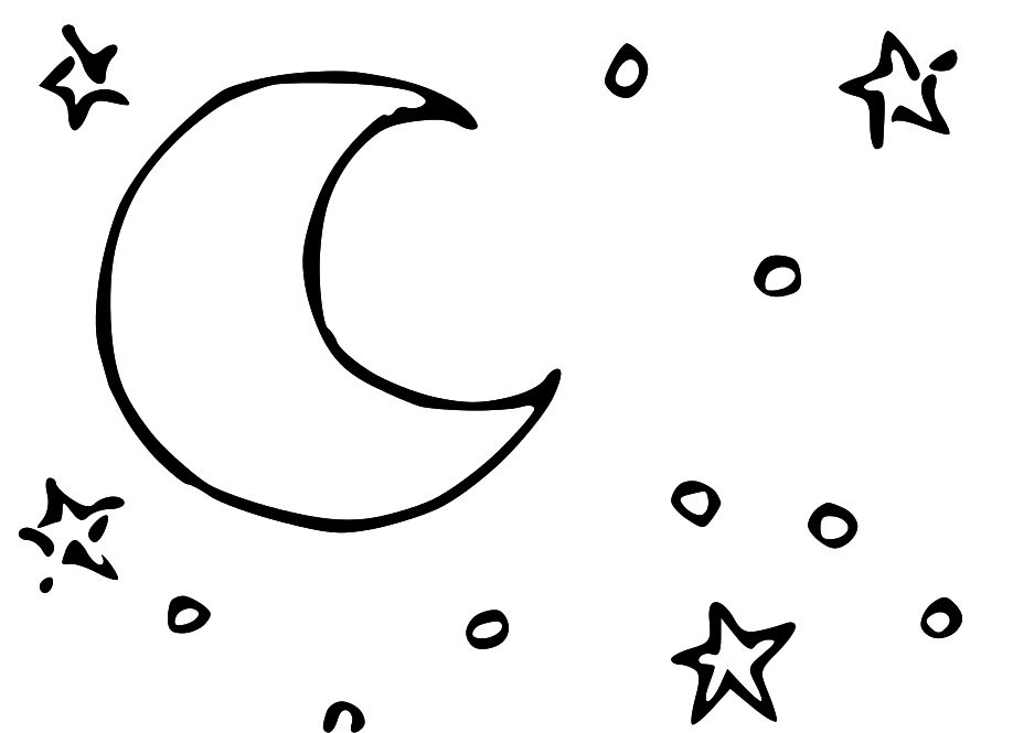 918x665 Moon Clipart Line Drawing
