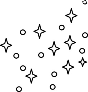 285x298 Stars Drawing Black And White
