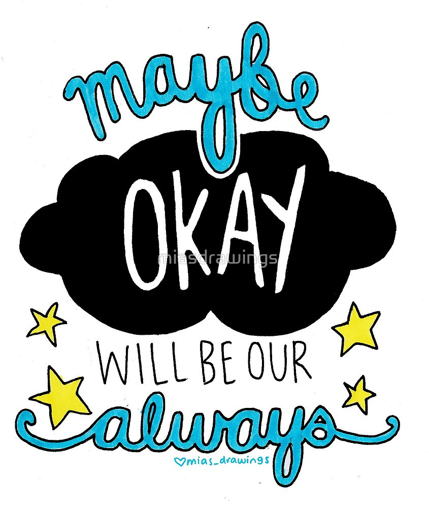 845x1000 The Fault In Our Stars Quote Drawing By Miasdrawings Redbubble