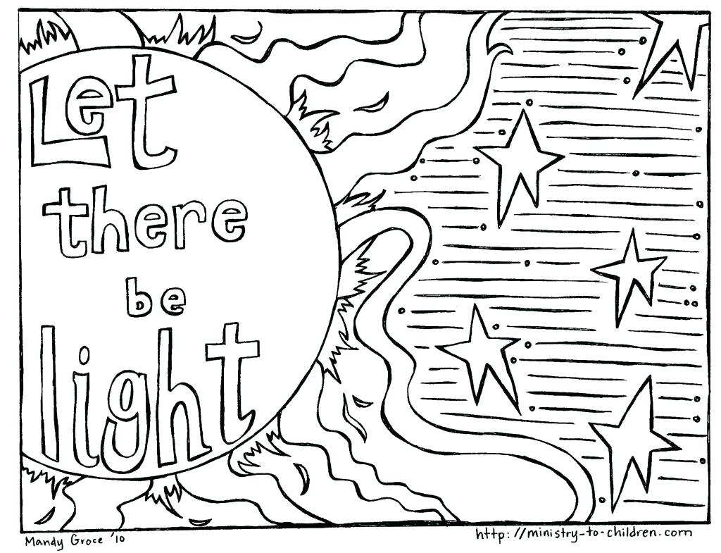 1024x785 Coloring Bible Creation Coloring Pages Adult Picture Page God