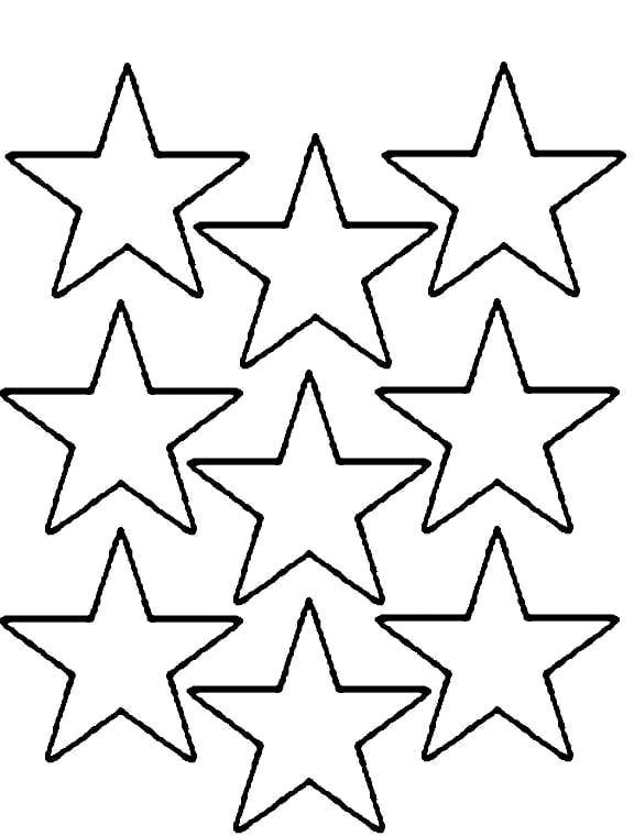 576x760 Coloring Pages Multi Stars Print Coloring Pages