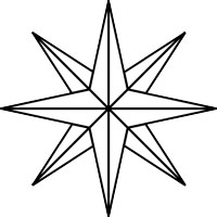200x200 How To Draw A Compass Rose
