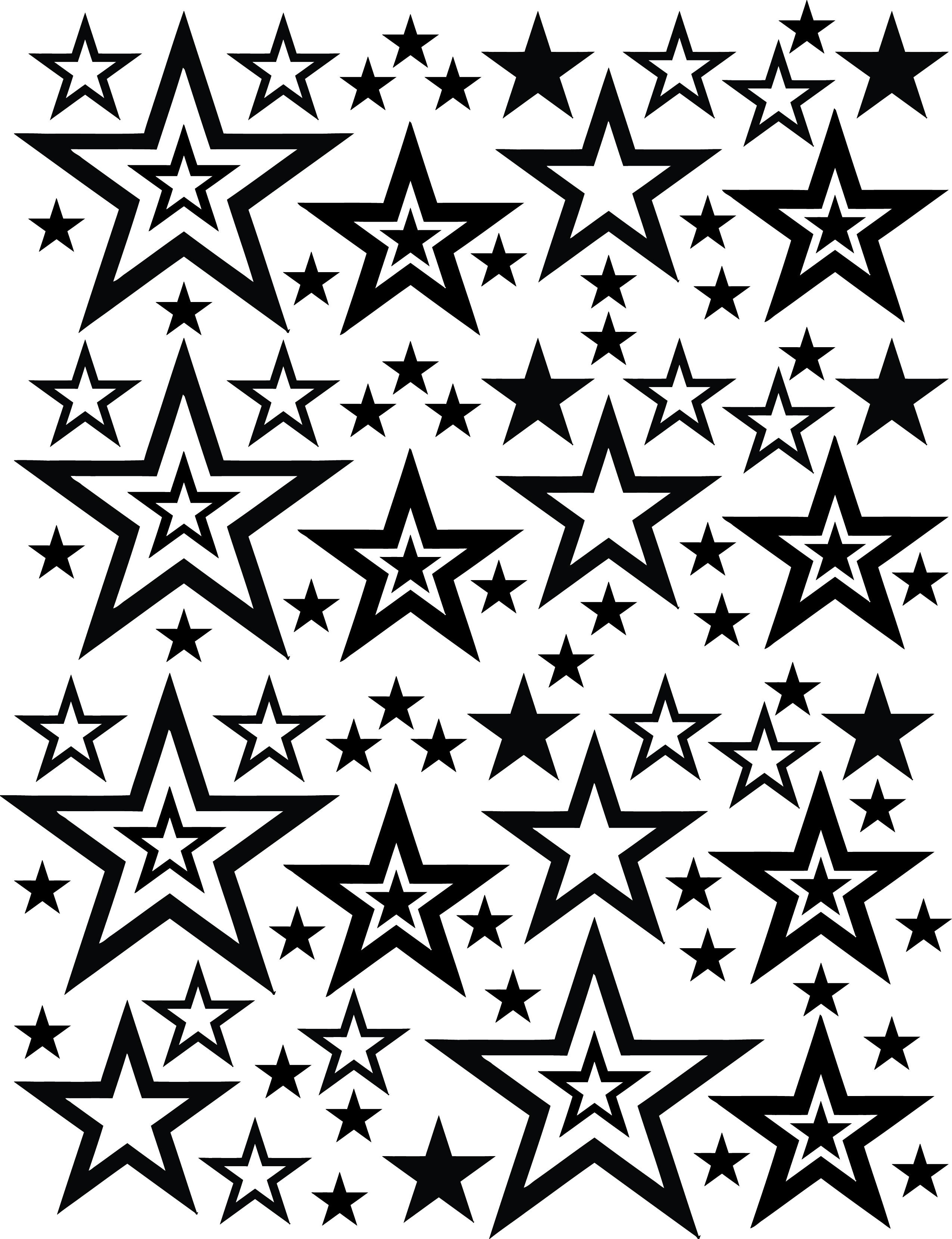 2550x3319 Stars Blasting Stencils