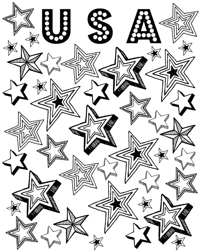 700x875 Awesome Patriotic Coloring Pagesline Of Stars Printable P