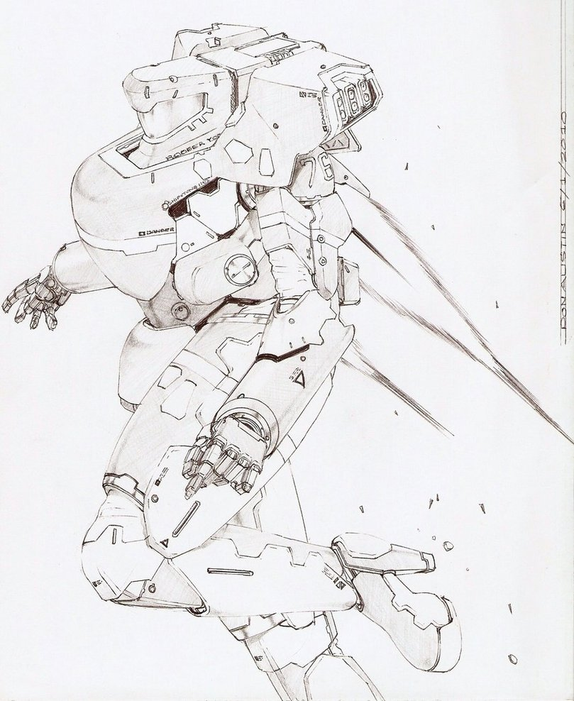 809x988 Starship Trooper Sketch 1a By Dtronaustin