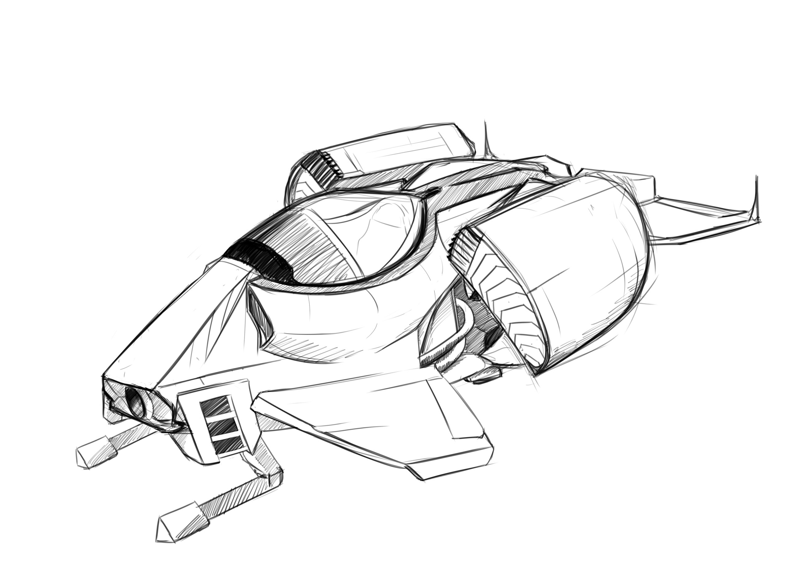 2574x1882 Spaceship Design Sketch By Polhudo On Newgrounds