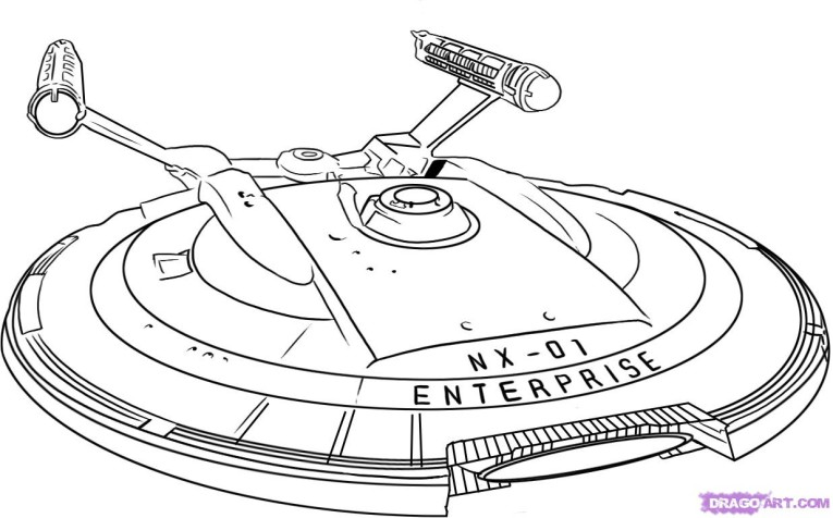 765x476 Star Trek Enterprise Ship Coloring Page