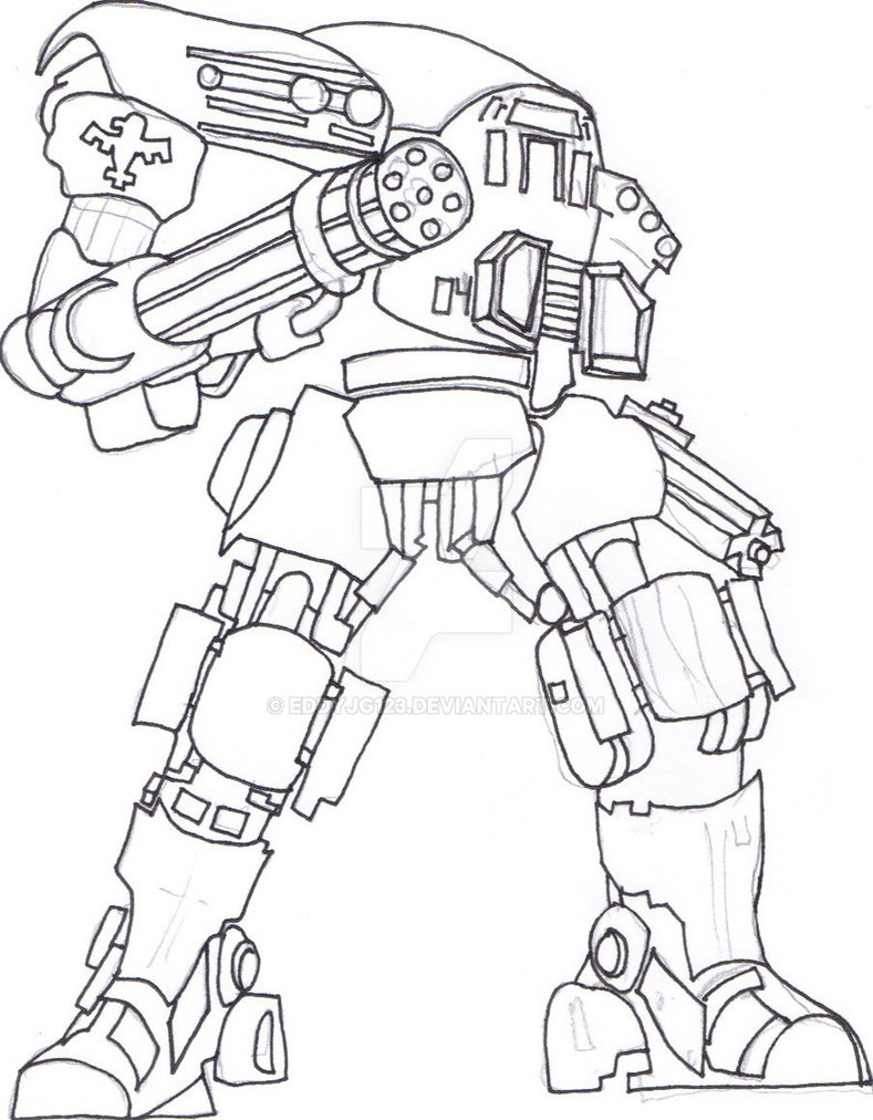 789x1012 Starship Troopers Marauder Unit Pen Sketch By Eddyjg123