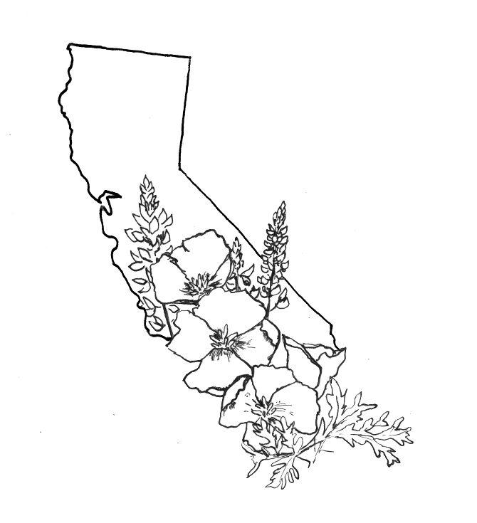 670x735 California Love Tattoo Designs On Upper