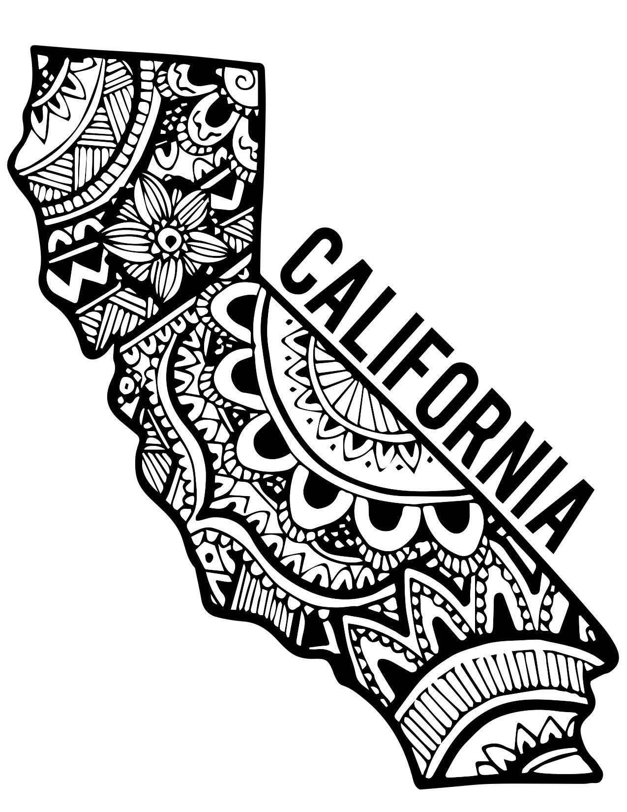 1275x1650 California Zentangle Zentangle Tattoo, Piercings