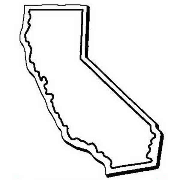 600x600 Flexible California State Shape Magnet Made Of 50% Recycled