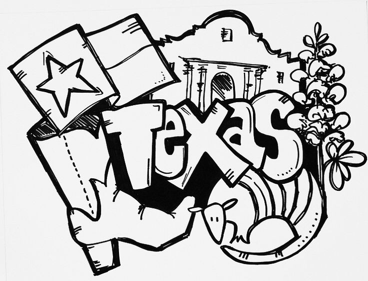 State Of Texas Drawing