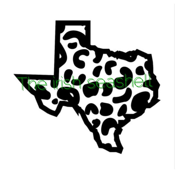 570x552 Texas Cheetah Leopard Jaguar Print Svg Dxf File Texas Svg