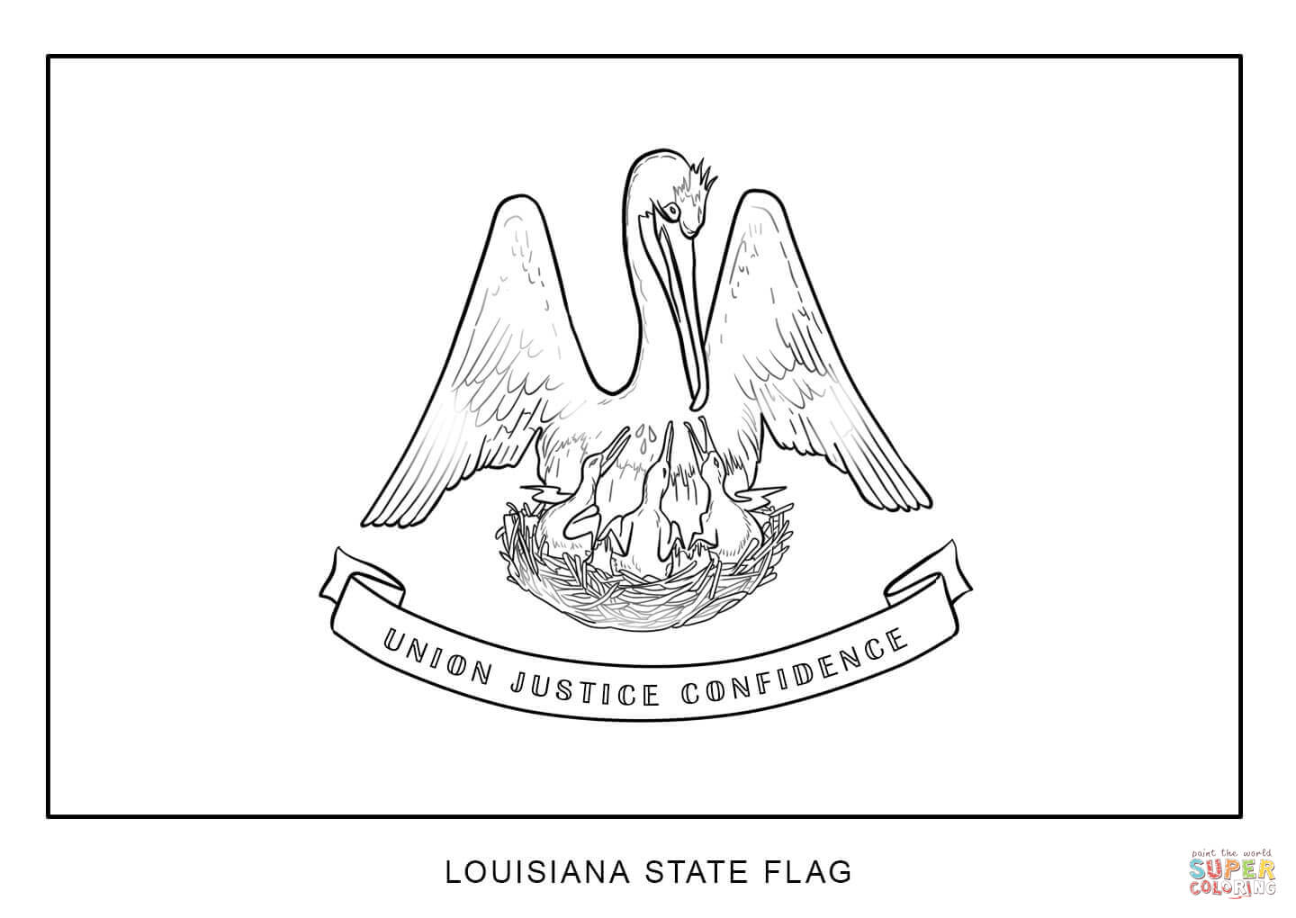 1440x1020 Flag Of Louisiana Coloring Page Free Printable Pages