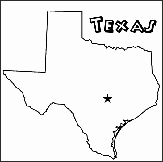 528x522 Printable Outline Of Texas On Emejing Texas Coloring Book Photos