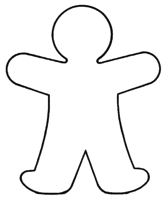 585x704 Body Outline Coloring Pages