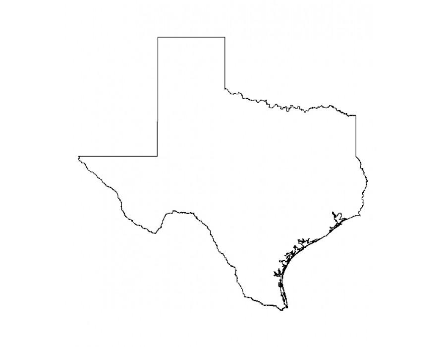 900x700 Buy Texas Outline Shapefile