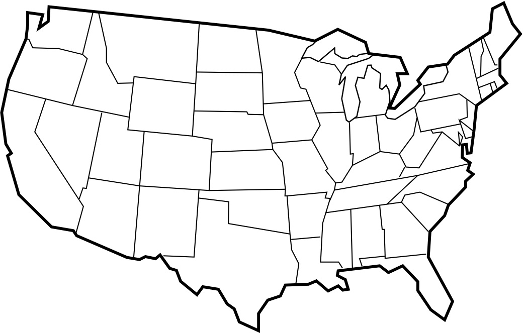 1040x663 Blank Maps Of Usa Free Printable Maps Blank Map Of The United