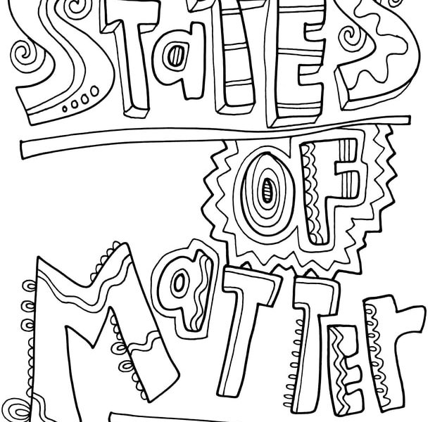 618x600 Matter Coloring Pages Download States Of Matter Coloring Pages