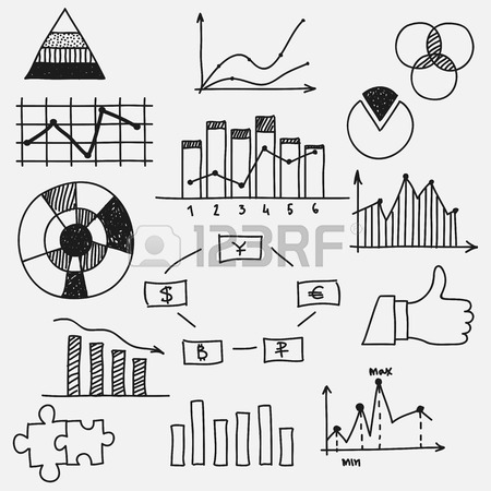 450x450 Hand Drawn Doodle Business Sketches Finance Statistics