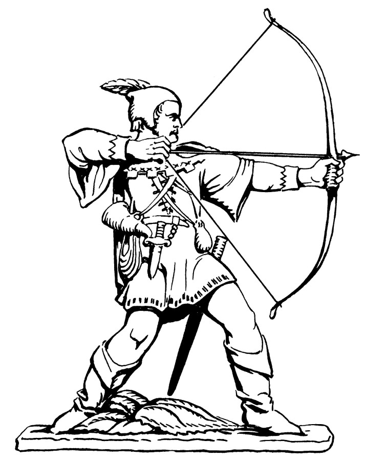 713x900 Line Drawing Of The Robin Hood Statue Nottingham City Council