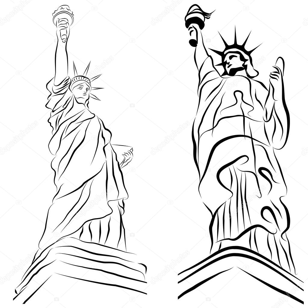 1024x1024 Statue Of Liberty Drawings Stock Vector Cteconsulting