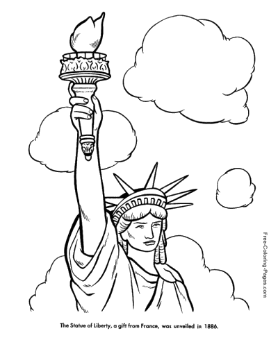 400x490 Statue Of Liberty Coloring Pages Cc Foundations Cycle 3