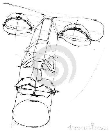 375x450 Greek Statue Sketch