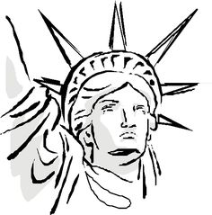 236x239 How To Draw Statue Of Liberty Face Art Creations