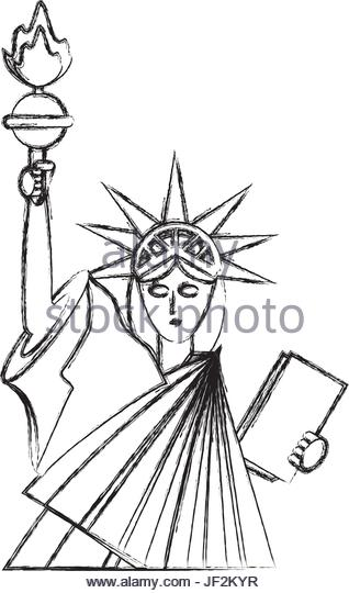 318x540 Statue Liberty Black White Isolated Stock Photos Amp Statue Liberty