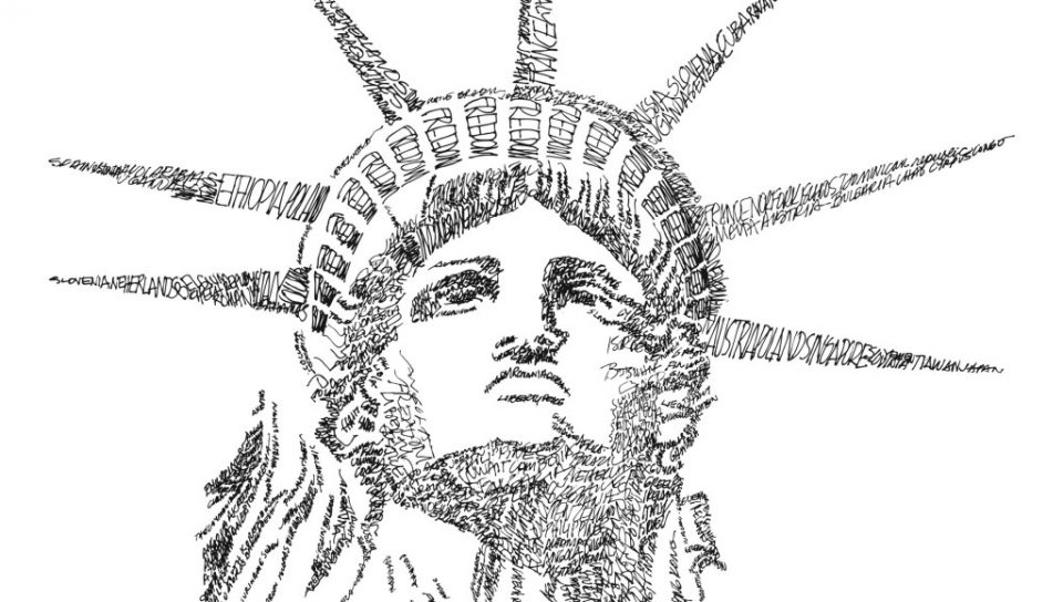 Statue Of Liberty Black And White Drawing at GetDrawings ...