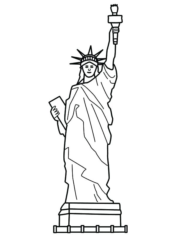 600x800 Statue Liberty Coloring Page Falls Coloring Page Statue
