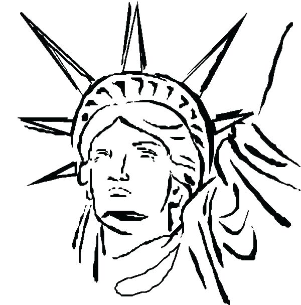 600x608 Statue Liberty Coloring Page Head Coloring Page Statue