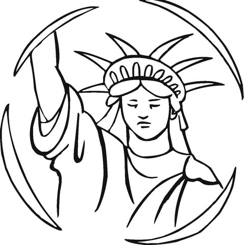 480x480 Statue Of Liberty Coloring Page Free Printable Coloring Pages