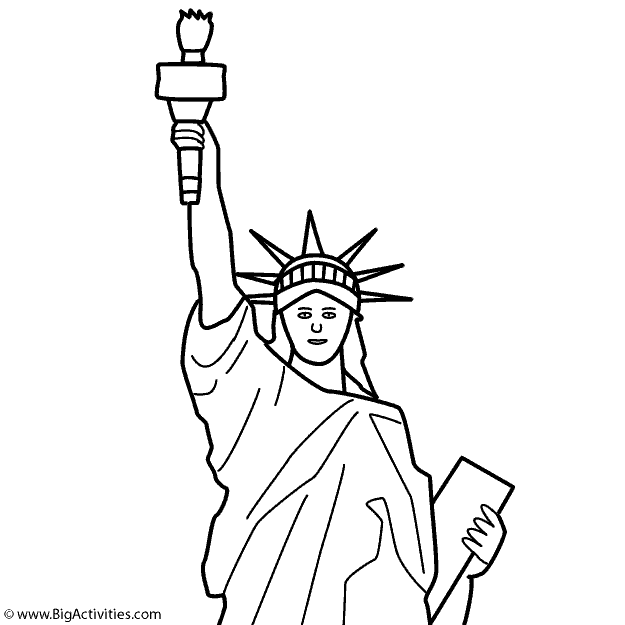 625x625 Statue Of Liberty (Top) With Title