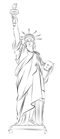 207x480 Statue Of Liberty In New York Ausmalbild Inspiration