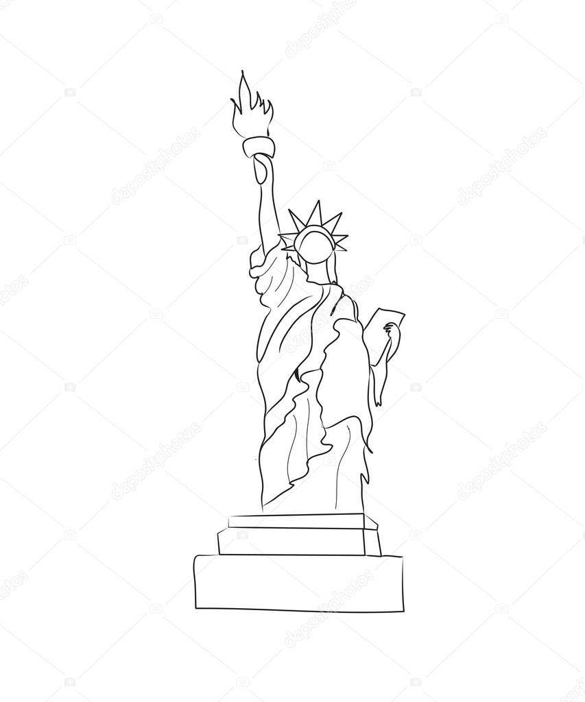 853x1024 Statue Of Liberty Stock Vector Nuarevik