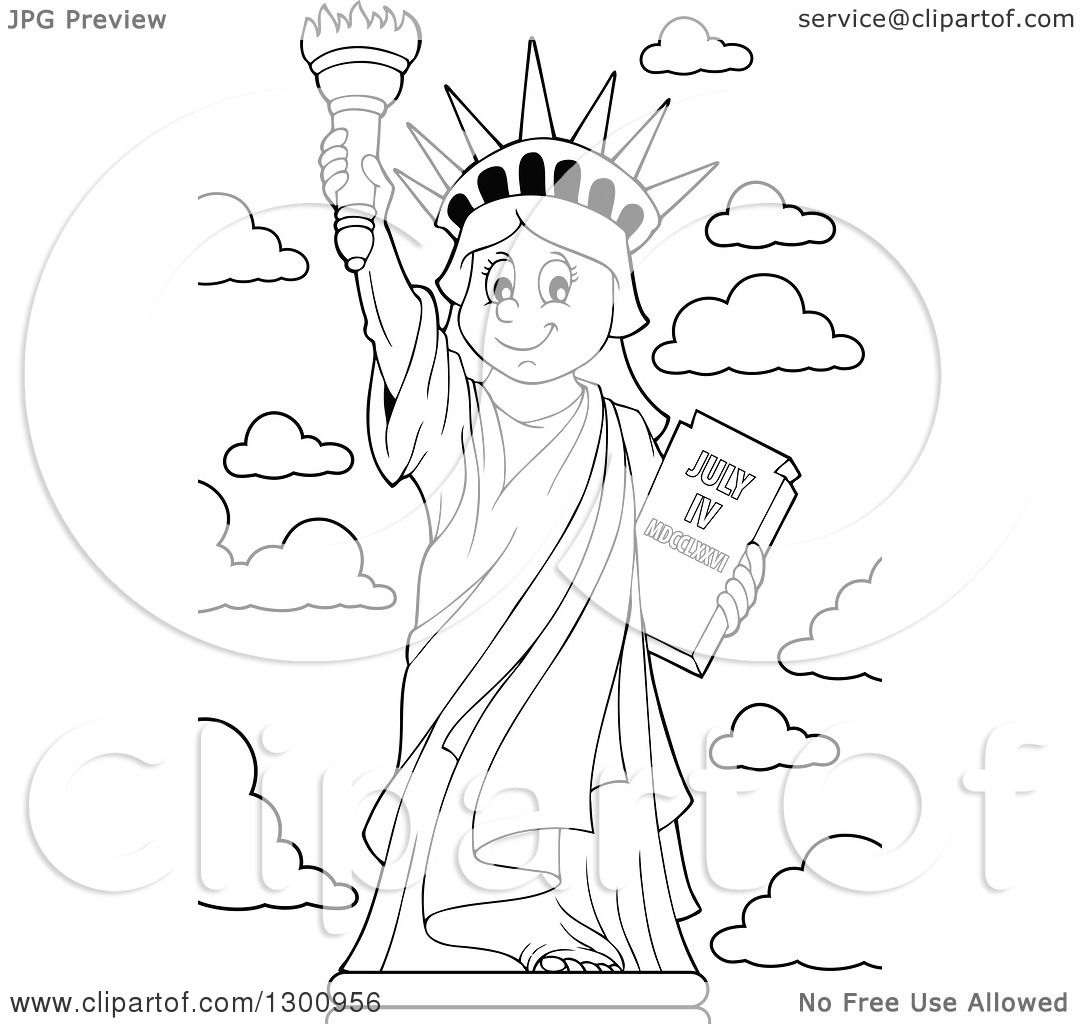 1080x1024 Lineart Clipart A Carton Black And White Happy Statue