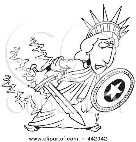 450x470 Royalty Free (Rf) Clip Art Illustration Of A Cartoon Defensive