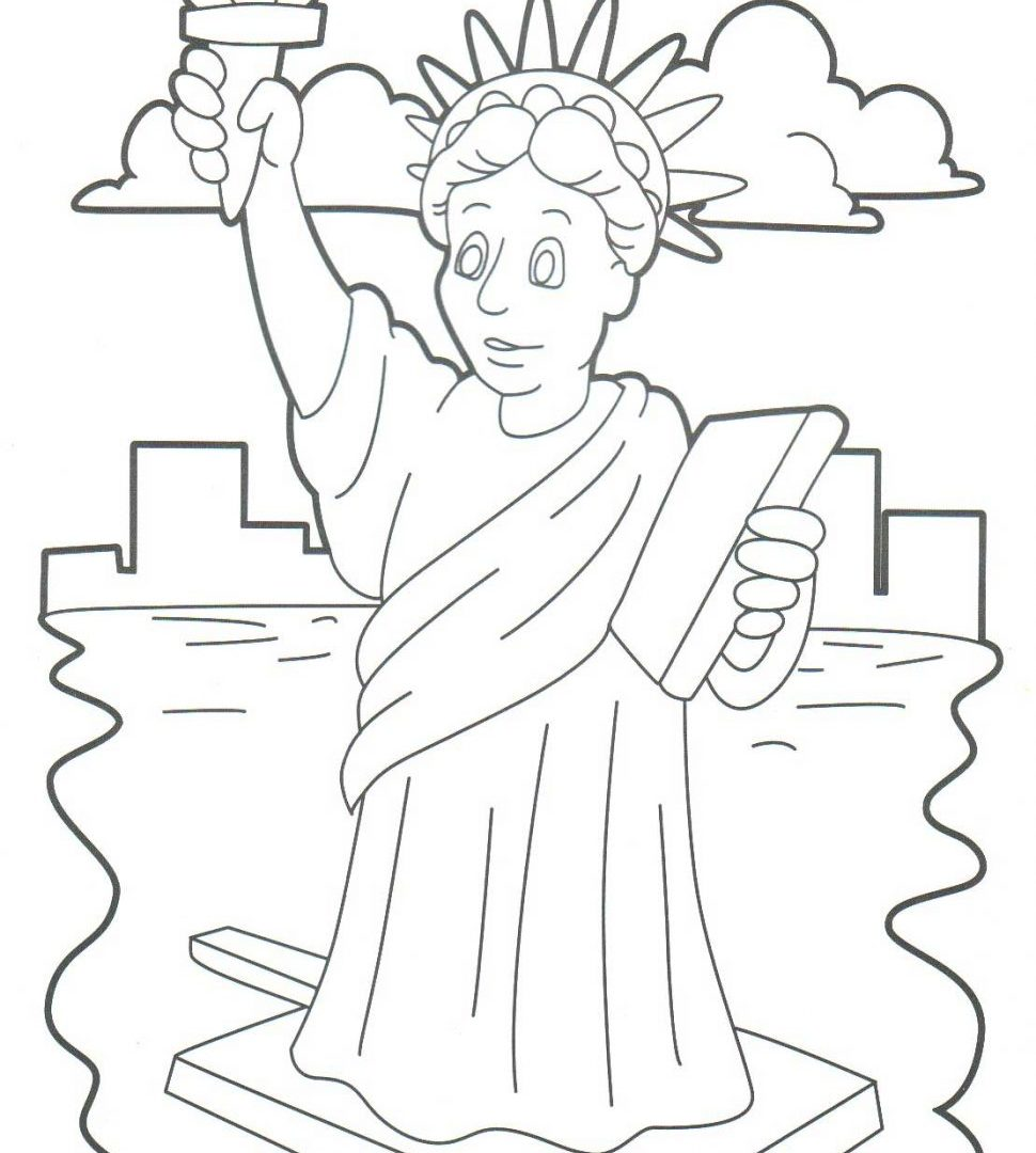 970x1080 Sport Statue Of Liberty Coloring Pages For Download And Print Free