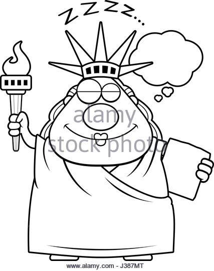 427x540 Statue Liberty Cartoon Black And White Stock Photos Amp Images