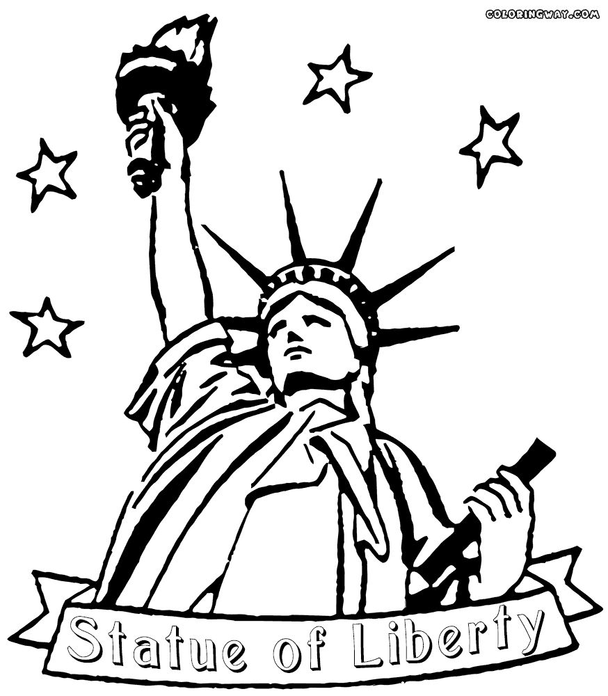 874x1000 Statue Of Liberty Black And White Coloring Page