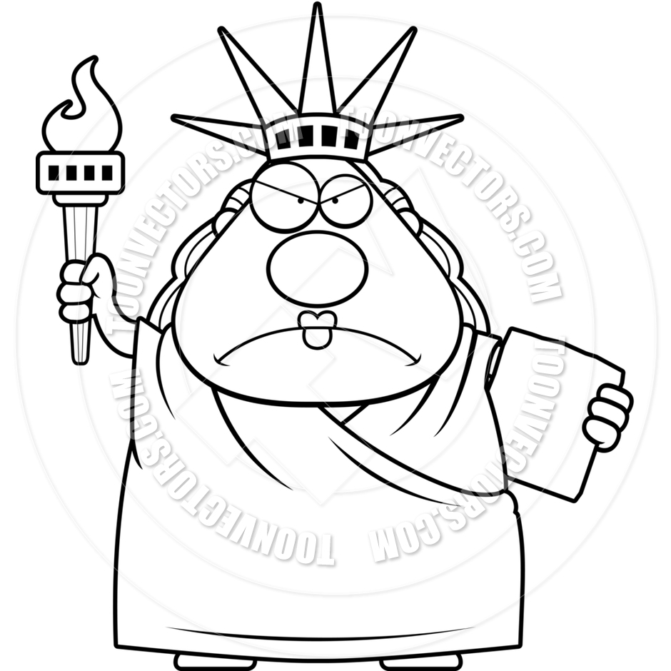 940x940 Statue Of Liberty Cartoon Drawing Cartoon Statue Of Liberty Angry