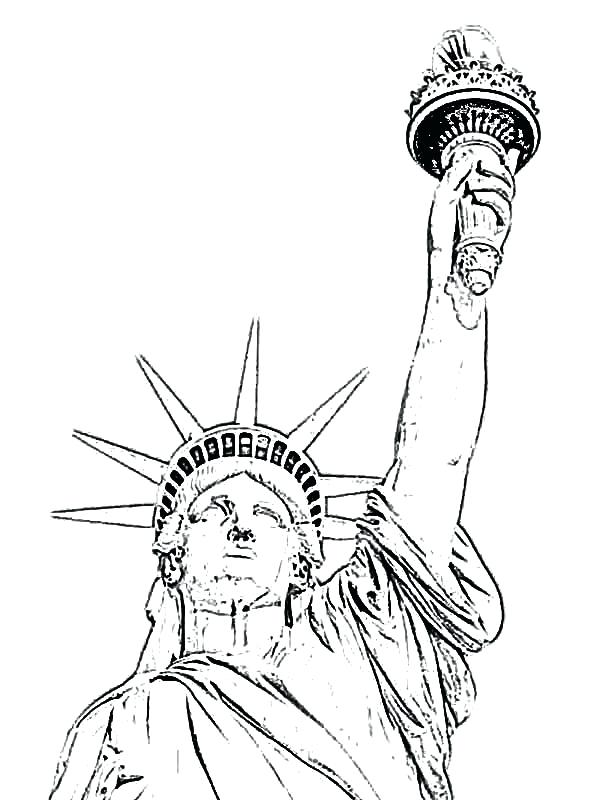 600x800 Statue Of Liberty Coloring Page Easy Free To Print For Adult