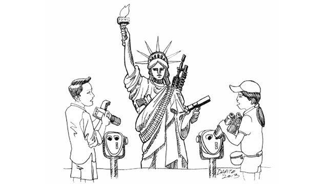 640x360 Caption The Cartoon Arming Lady Liberty