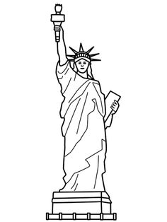 236x314 Statue Of Liberty Line Art !my Coloring Pages