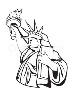 248x320 Statue Of Liberty Crown Cartoon Icon On A White Background Stock