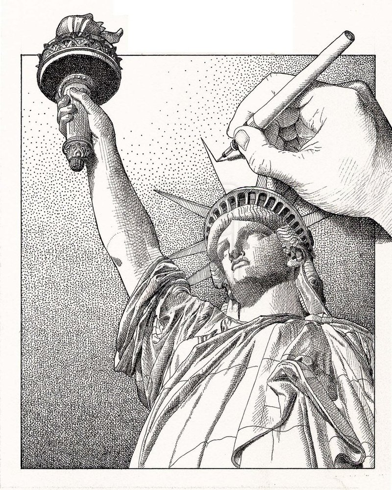 800x1000 Drawing Statue Of Liberty By Dicarts On Another