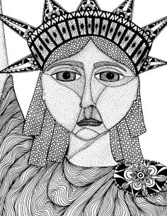 236x305 How To Draw The Statue Of Liberty Step By Step Drawing Tutorials